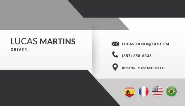 Cartão de Visita | Motorista Executivo
